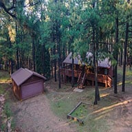 Log cabin in the woods of Northern Arizona